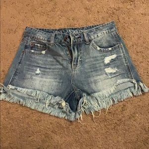 denim ripped jean shorts vanilla star size 3